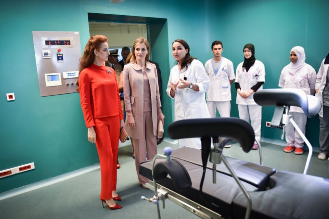 Photos : Letizia d'Espagne : chic, radieuse et complice avec la sublime princesse Lalla Salma du Maroc !