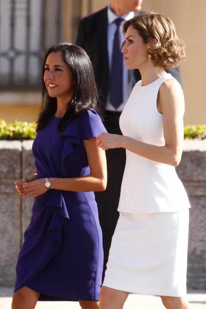 Letizia d'Espagne avec la première dame péruvienne