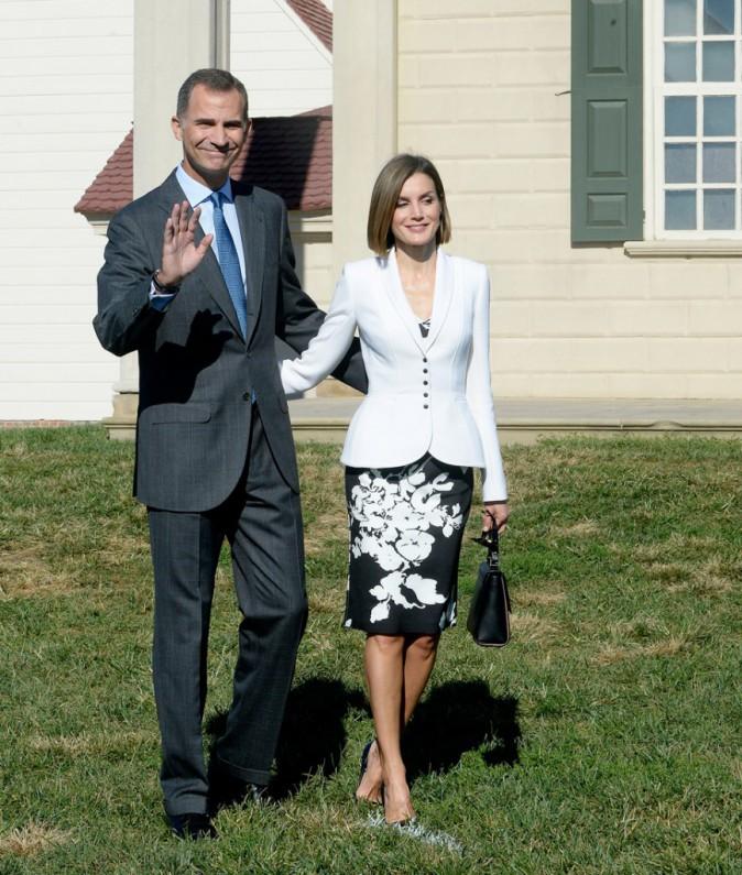 Letizia et Felipe d'Espagne au Mount Vernon