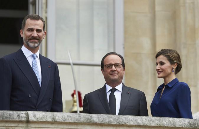 Felipe VI, François Hollande et Letizia Ortiz