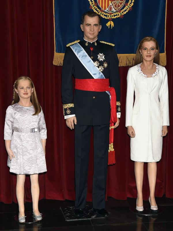Les statues de cire de la famille royale espagnole