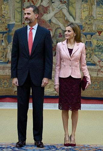 Photos : Letizia et Felipe d'Espagne : toujours aussi élégants au palais El Pardo !