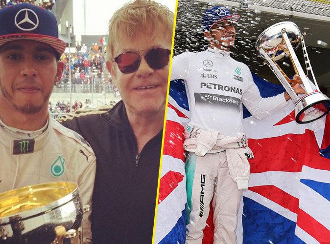 Lewis Hamilton sur le toit du monde, les stars le félicite !