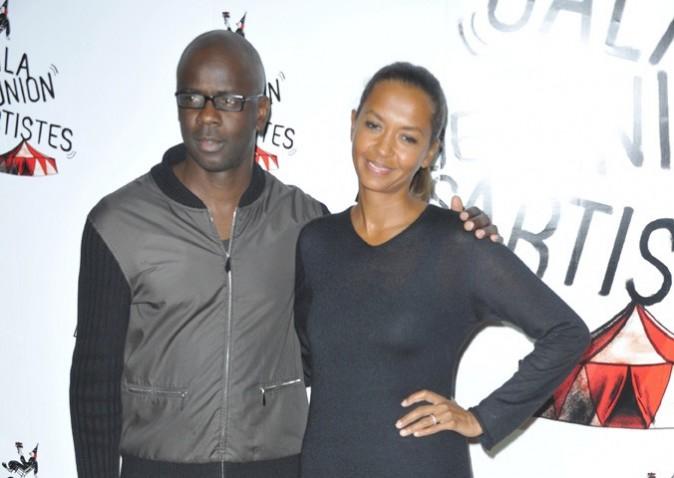 Lilian Thuram et Karine Lemarchand au au 51ème Gala de l'Union Des Artistes à Paris ke 12 novembre 2012