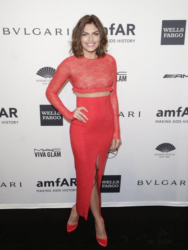 Alyssa Miller lors du gala de l'amfar à New York, le 5 février 2014.