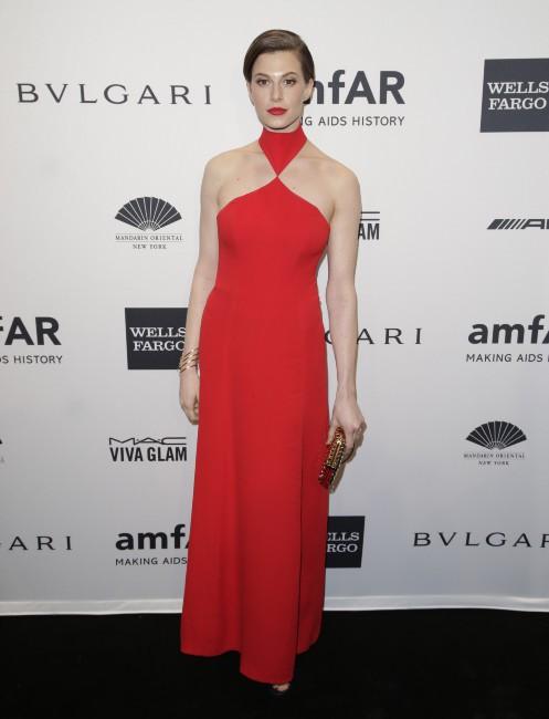 Elettra Wiedemann lors du gala de l'amfar à New York, le 5 février 2014.