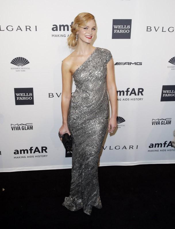 Erin Heatherton lors du gala de l'amfar à New York, le 5 février 2014.