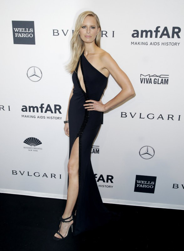 Karolina Kurkova lors du gala de l'amfar à New York, le 5 février 2014.