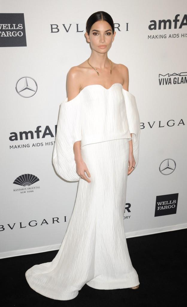 Lily Aldridge lors du gala de l'amfar à New York, le 5 février 2014.