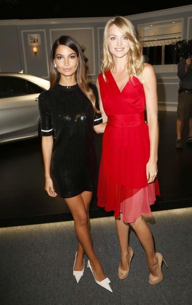 Lily Aldridge et Lindsay Ellingson lors de la soirée des Style Awards 2013 à New York, le 4 septembre 2013.