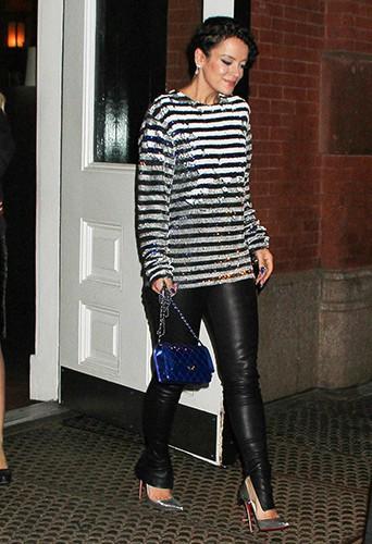 Lily Allen à New York le 20 mars 2014
