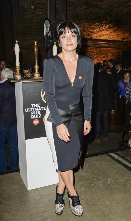 Lily Allen à Londres le 4 février 2014
