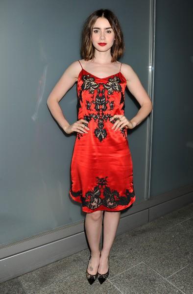 Lily Collins lors de la soirée Flaunt Magazine, le 7 novembre 2013.