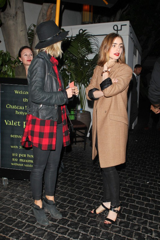 Julianne Hough et Lily Collins lors de l'after-party du concert de 30 Seconds to Mars, le 13 octobre 2013.