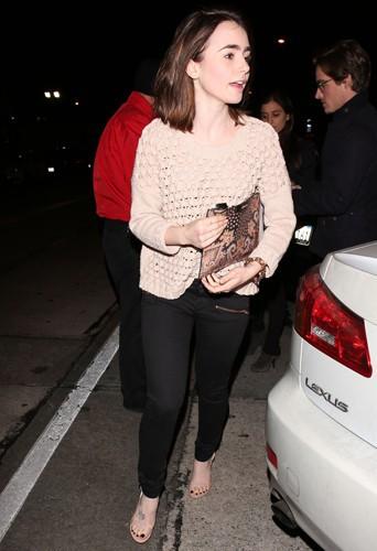 Thomas Cocquerel et Lily Collins à Los Angeles le 5 février 2014