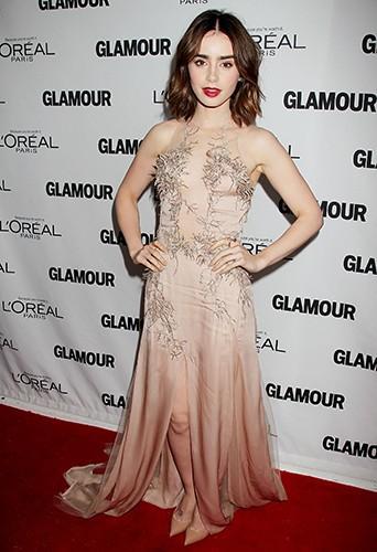 Lily Collins à New-York le 11 novembre 2013