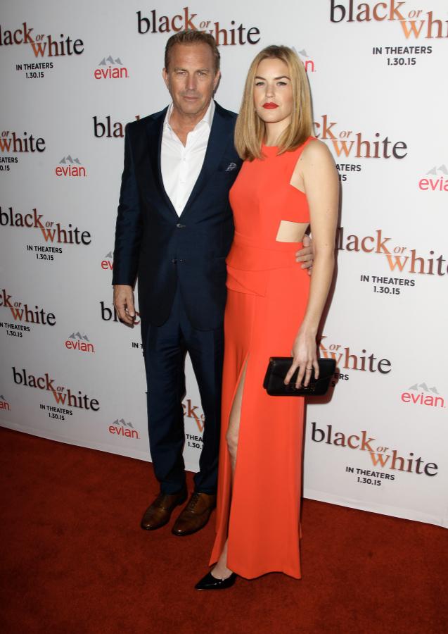 Lily et Kevin Costner le 20 janvier 2015