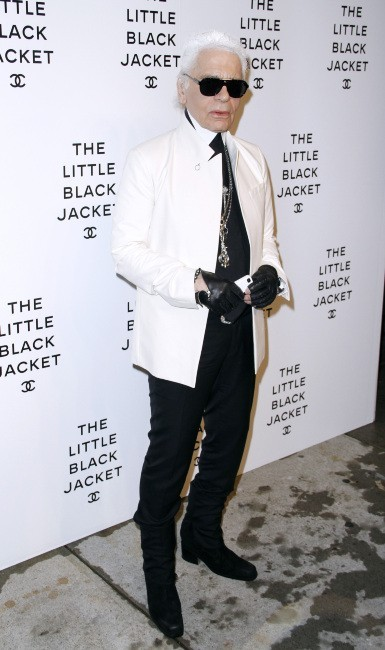 Karl Lagerfeld lors de l'exposition Chanel à New York, le 7 juin 2012.