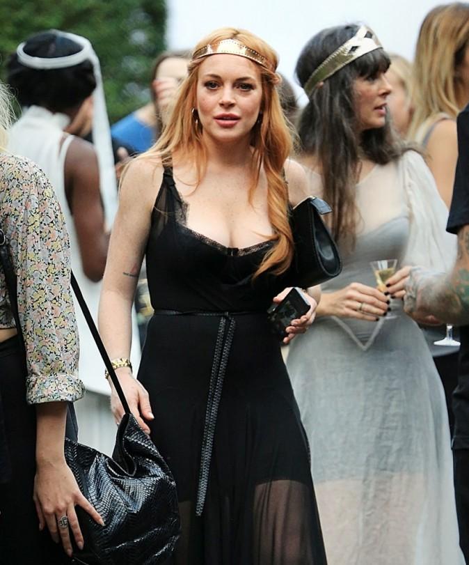 Lindsay Lohan au défilé 'Saints of the Zodiac' de sa soeur le 4 septembre 2013