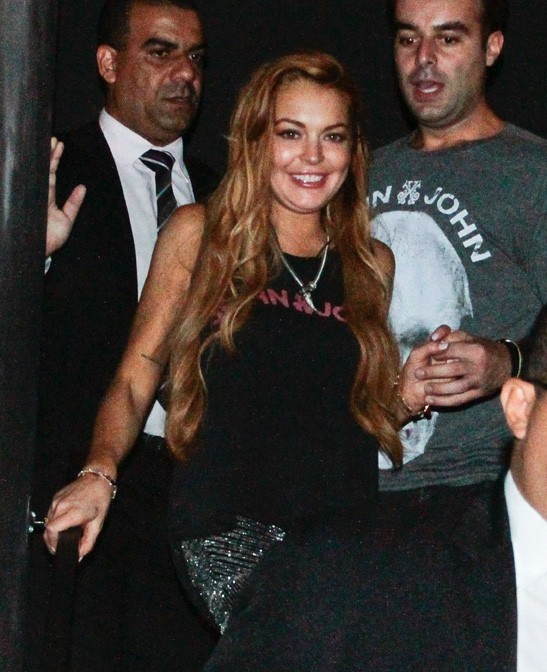 Lindsay Lohan à Sao Paulo, au Brésil, le 28 mars 2013