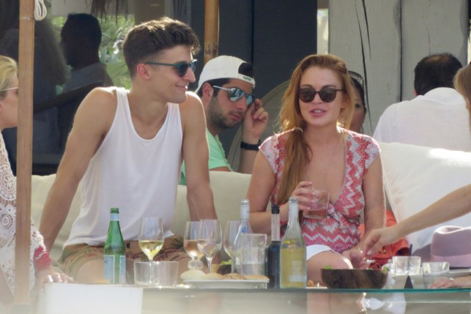 Lindsay Lohan à Ibiza le 28 juillet 2014