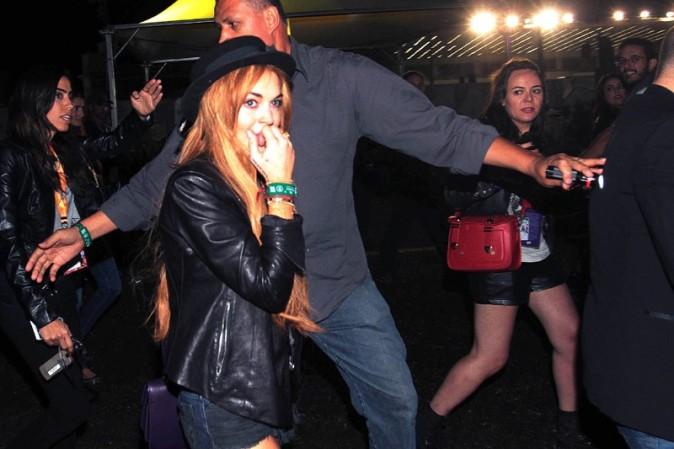 Lindsay Lohan à la sortie d'un club de Sao Paulo le 29 mars 2013