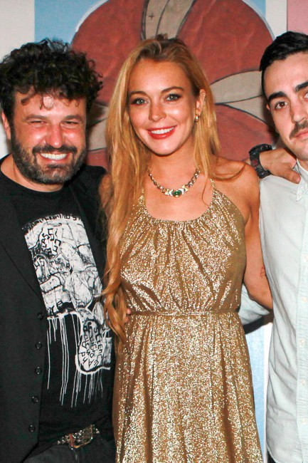 "Lindsay Lohan à l'occasion de la présentation d'art ""The Art of Bullfighting"" lors du festival Art Basel à Miami, le 6 décembre 2013."