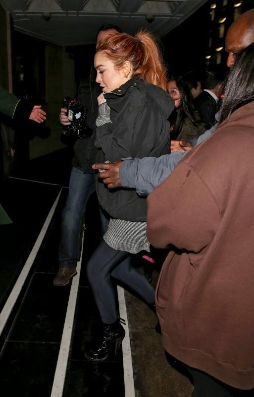 Lindsay Lohan, Londres, 31 décembre 2012.