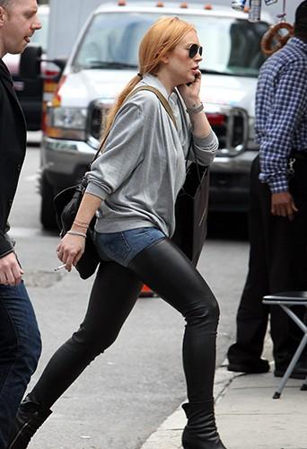 Lindsay Lohan à New-York le 16 septembre 2013