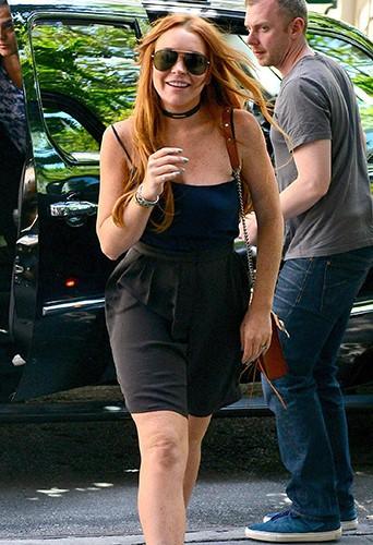 Lindsay Lohan à New-York le 5 août 2013