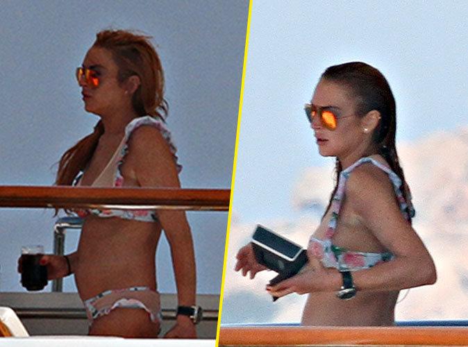 Photos : Lindsay Lohan : Future mère célibataire ? Elle affiche son ventre rebondi juste après sa rupture !