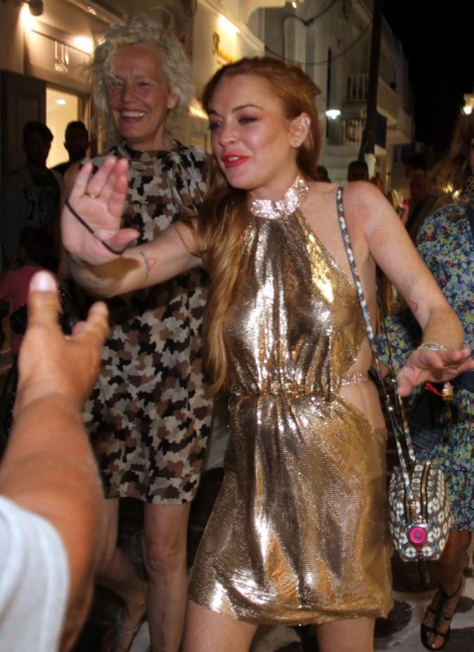 Lindsay Lohan à Mykonos, le 20 juillet 2015
