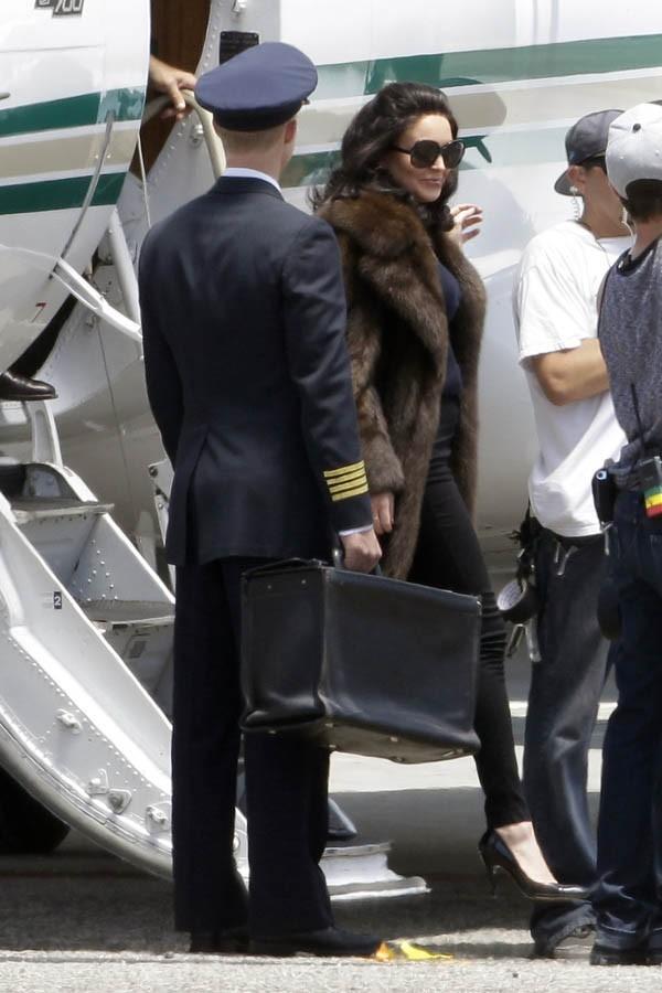 Lindsay Lohan sur le tournage de Liz & Dick le 20 juin 2012