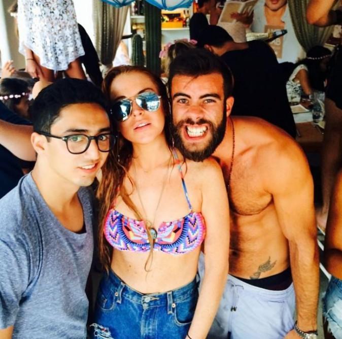 Lindsay Lohan super épanouie pendant ses vacances, le 3 août
