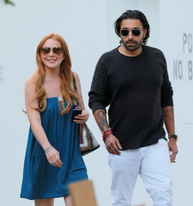 Lindsay Lohan en plein shopping à New York avec son BFF Vikram Chatwal, le 20 août 2013.