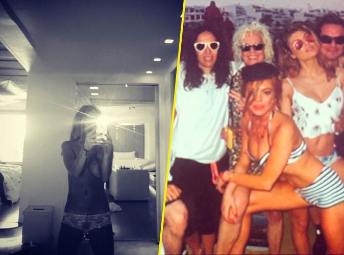 Lindsay Lohan en vacances à Mykonos