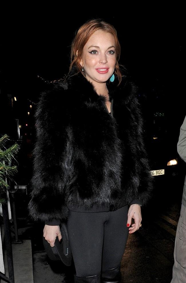 Lindsay Lohan le 2 décembre 2013 à Londres