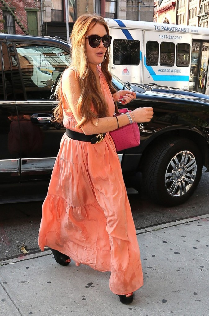 Lindsay Lohan à New York, le 13 septembre 2012.