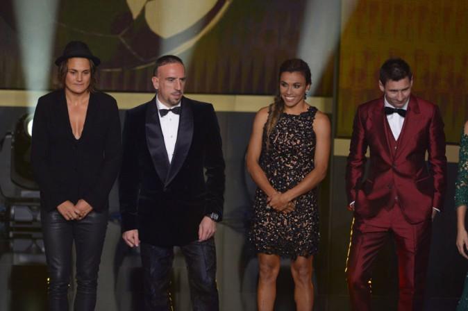 Lionel Messi à la cérémonie du Ballon d'Or 2013 organisée à Zurich le 13 janvier 2014