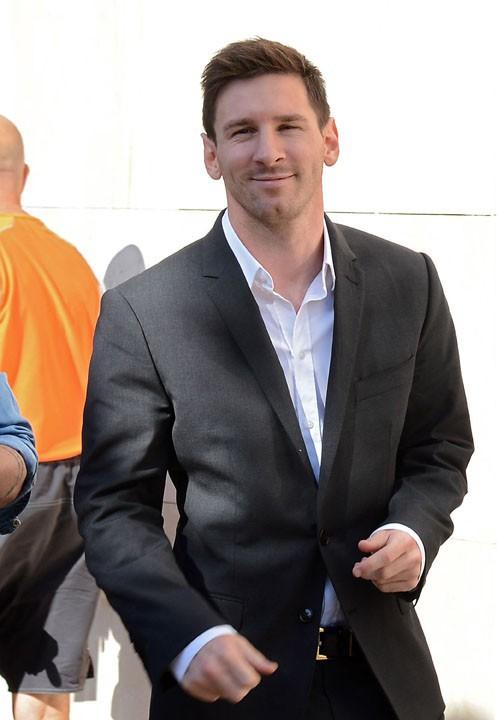 Lionel Messi à son arrivée au tribunal de Gava le 27 septembre 2013