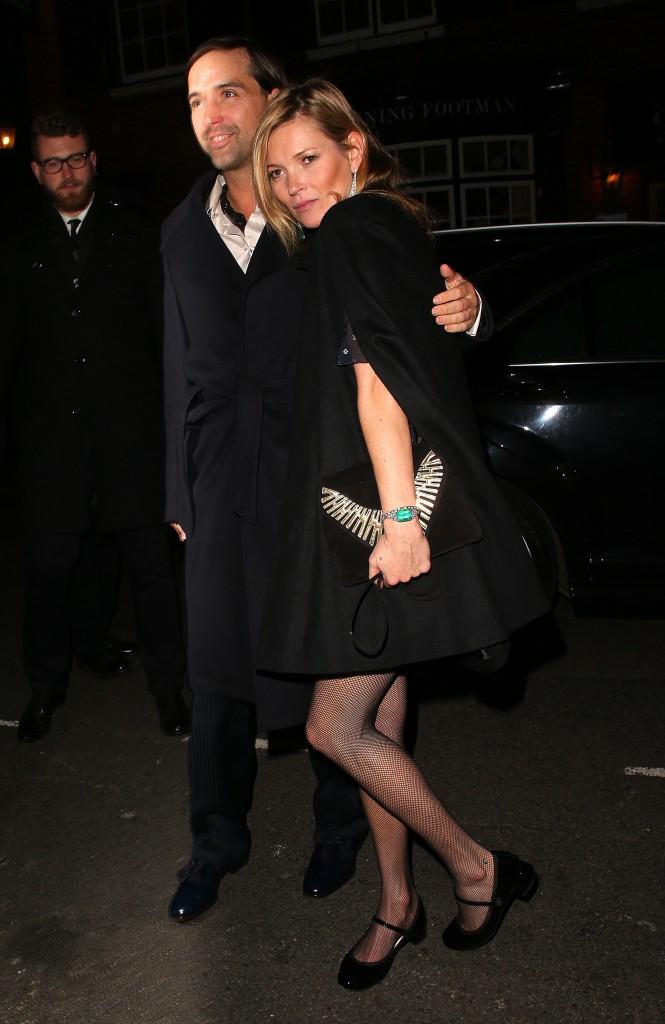 Kate Moss à Londres le 20 novembre 2014