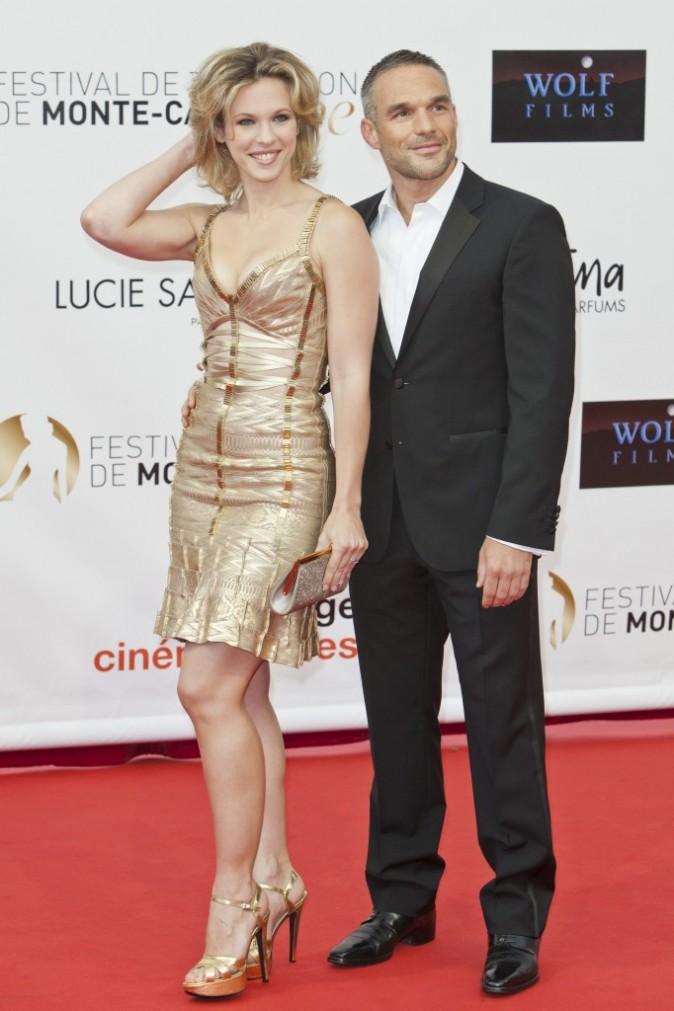 Lorie et Philippe Bas lors du Festival du Téléfilm de Monte-Carlo, le 10 juin 2012.