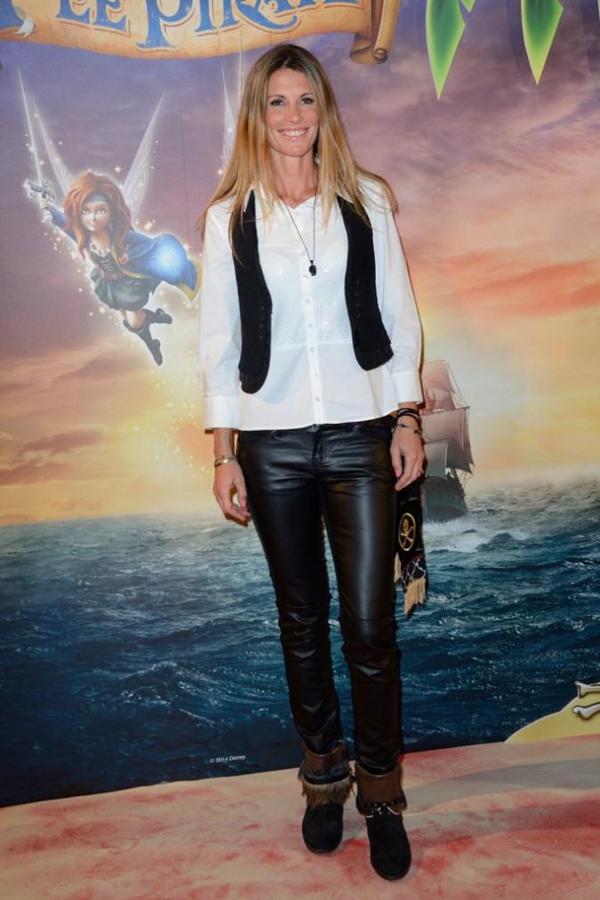 """Sophie Thalmann lors de l'avant-première de """"Clochette et la fée pirate"""" à Paris, le 25 mars 2014."""