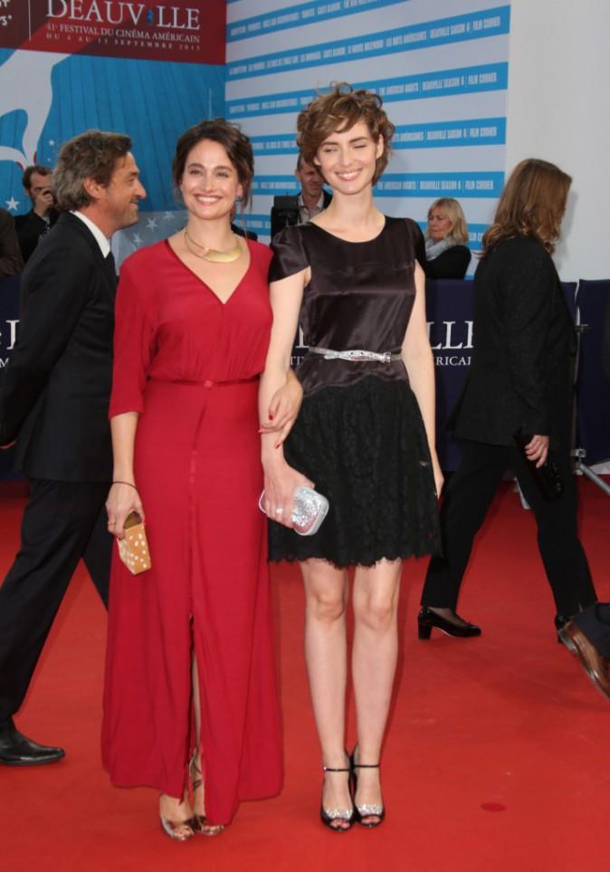 Louise Bourgoin et Marie Gillain au festival de Deauville le 9 septembre 2015