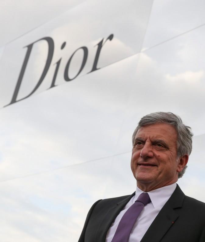 Sidney Toledano arrive au défilé Haute Couture de la maison Dior à Moscou, le 9 juillet 2013.