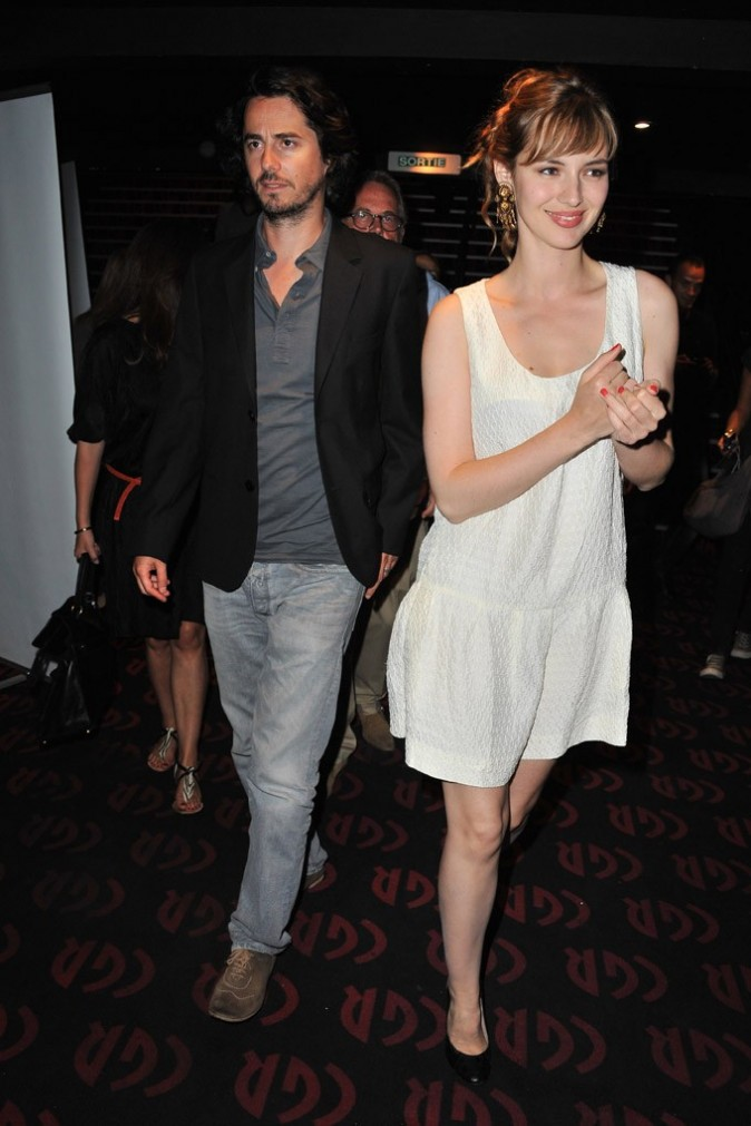 Louise Bourgoin et Rémi Bezançon lors de l'avant -première de son film, Un heureux événement, lors du Festival du film francophone d'Angoulême, le 25 août 2011.
