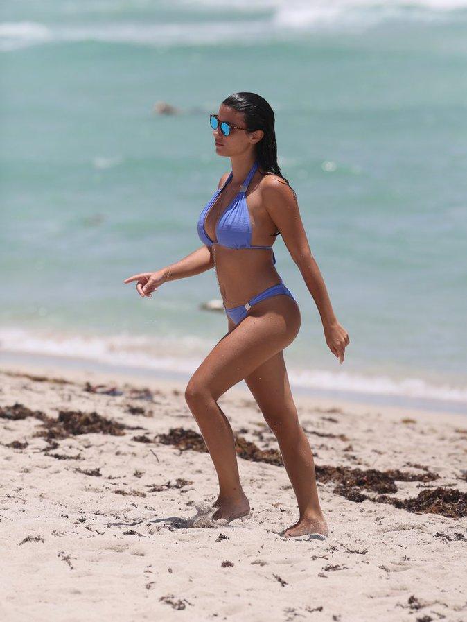 Ludivine et Bacary Sagna à Miami, le 19 juillet
