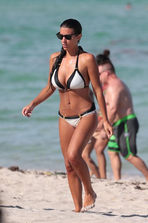 Ludivine Sagna en vacances à Miami summer 2014