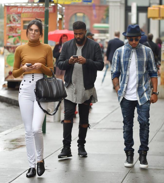 Kendall Jenner et Lewis Hamilton le 10 septembre 2015