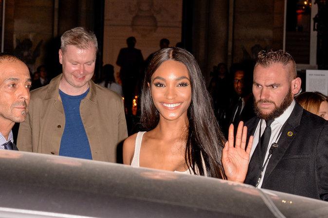 Jourdan Dunn ce mercredi 28 septembre à Paris au défilé de Rihanna pour Puma